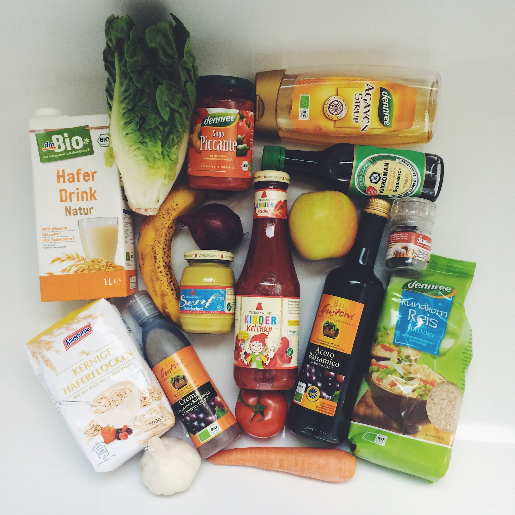 Vegane High Carb Einkaufsliste