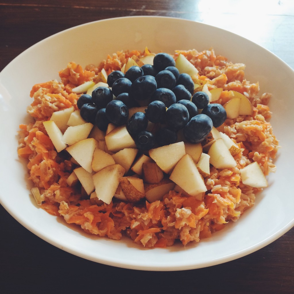 veganes Oatmeal mit Möhre