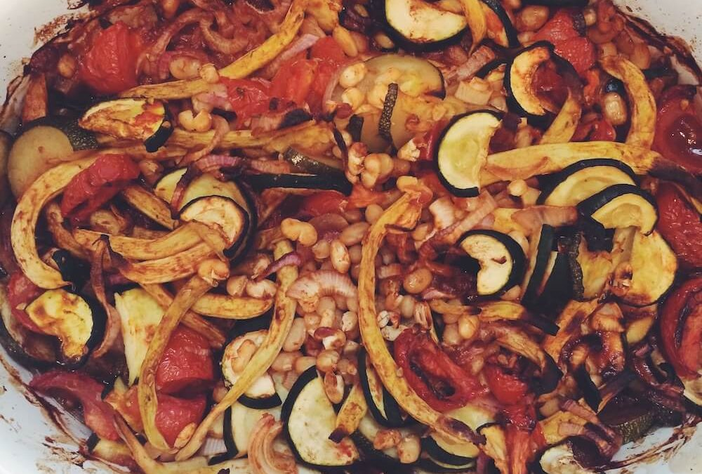 Zucchini-Bohnen-Auflauf