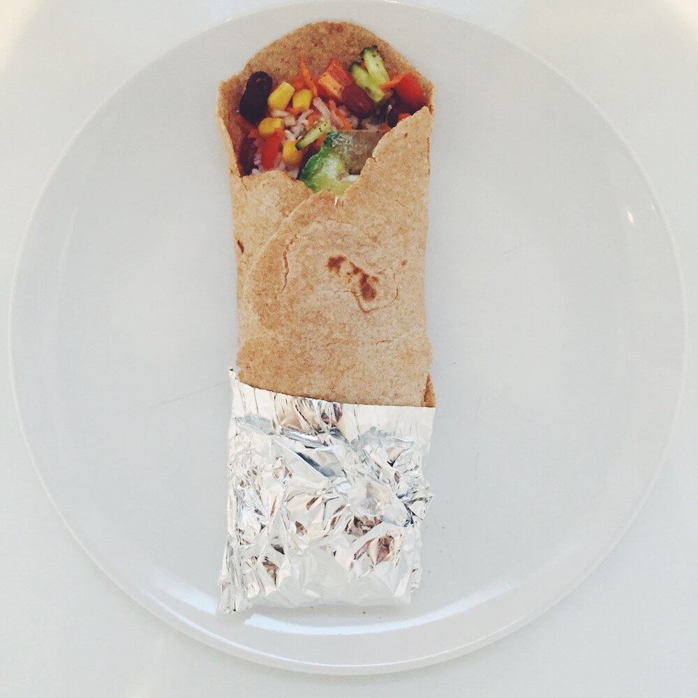 Vegane High Carb Burritos